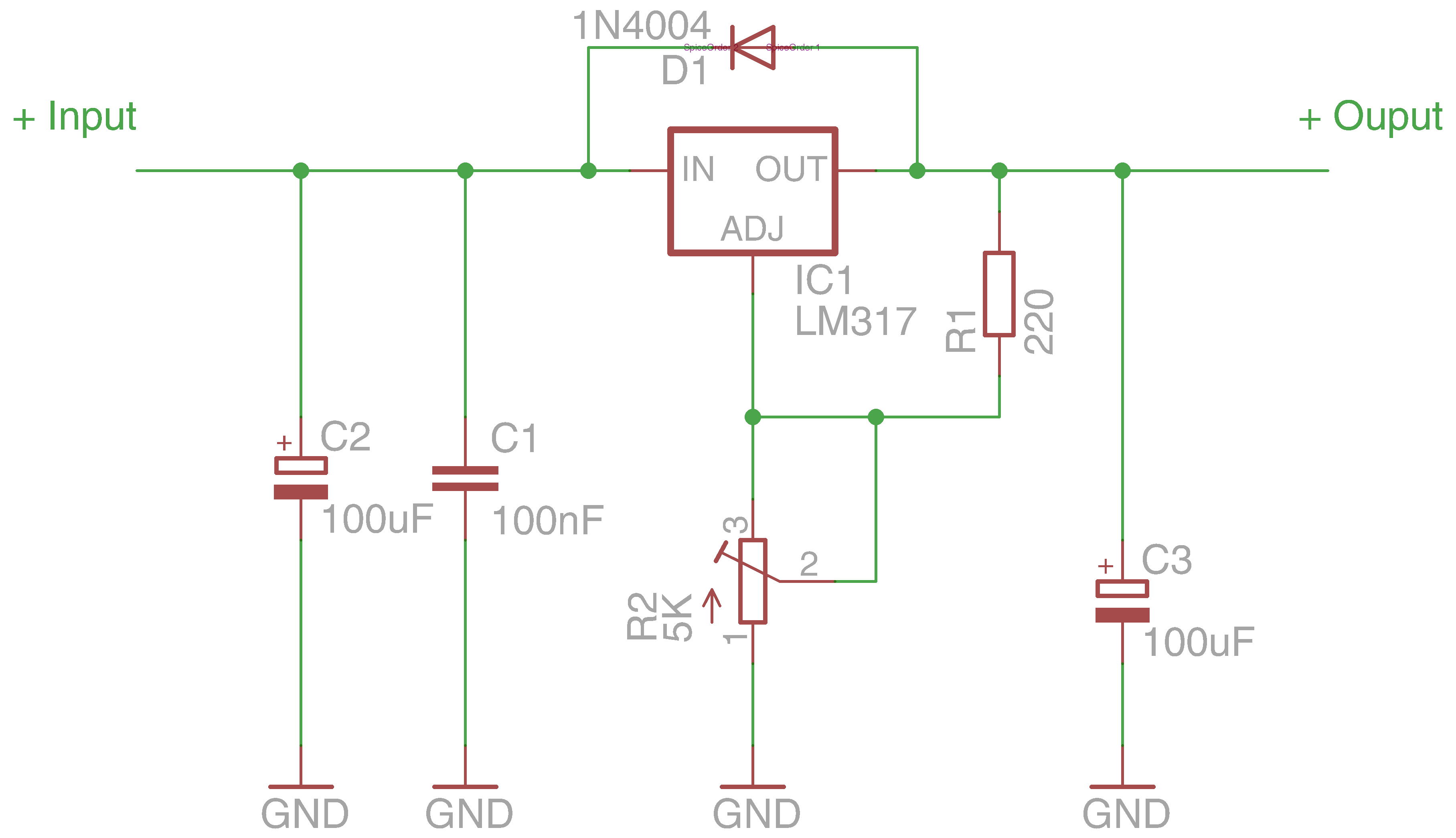 Spannungsregler variabel mit LM317 - All My Circuits