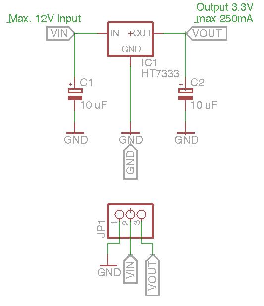 Schaltplan HT7333