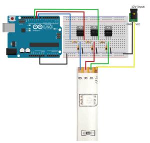 LEDStripe-Treiber-MOSFET_Steckplatine
