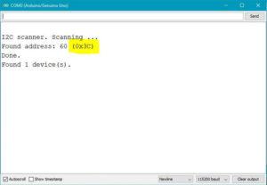 I2C-Scanner Ergebnis